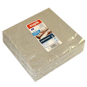 Anthracite Grey Elegance Linen Style Napkin