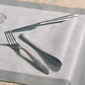 Complemented by coordinating face-to-face table runners and covers