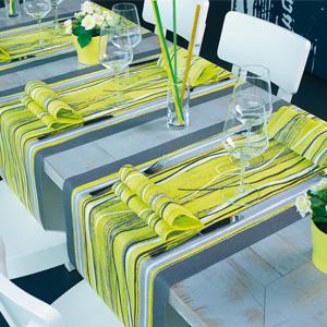 Elegance Face to Face table runner and napkin - Pistachio spirit design